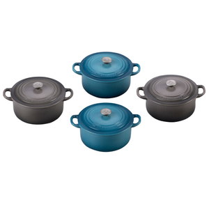 Le Creuset Marine and Oyster 4 Piece Mini French Oven Magnet Set