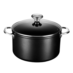 Le Creuset Toughened Steel 6.3 Quart Stockpot with Glass Lid