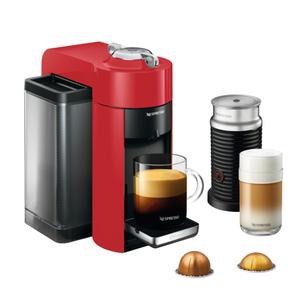 DeLonghi Nespresso Vertuo Red Coffee and Espresso Machine with Aeroccino Milk Frother