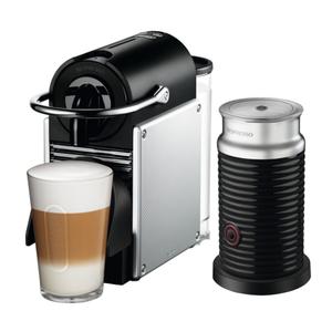 DeLonghi Nespresso Pixie Aluminum Espresso Machine with Aeroccino Milk Frother