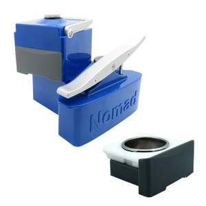 Nomad Cobalt Blue Portable Espresso Machine with Extra Coffee Drawer
