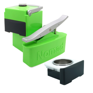 Nomad Luminescent Green Portable Espresso Machine with Extra Coffee Drawer