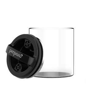 Prepara Evak 2 Cup Airtight Food Storage Container with Compact Black Gloss Lid
