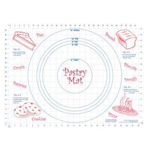 HIC Harold Import Co Kitchen Helper 18 x 24 Inch Pastry Mat