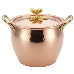 Ruffoni Historia Décor Copper 4.75 Quart Covered Stockpot