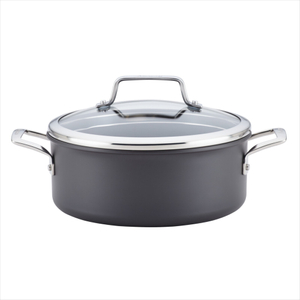 Anolon Authority Gray Hard-Anodized Nonstick Covered 5-Quart Dutch Oven