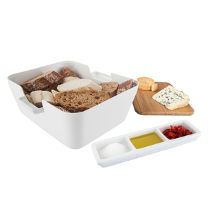 Tomorrows Kitchen White 3 Piece Bread & Dip Set