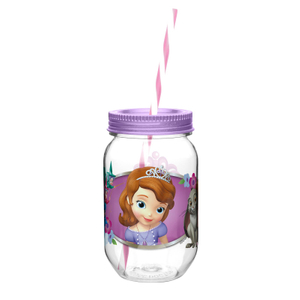 Zak! Sophia the First 19 Ounce Jar Tumbler with Straw