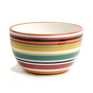 Omniware Ceramic Multi Stripe Chili Bowl