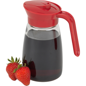 Good Cook Glass 12 Ounce Syrup Server with Red Lid