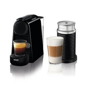 De'Longhi Nespresso Essenza Black Mini Espresso Machine with Aeroccino Milk Frother