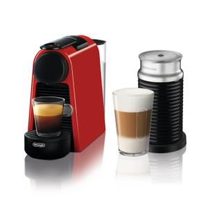 De'Longhi Nespresso Essenza Red Mini Espresso Machine with Aeroccino Milk Frother