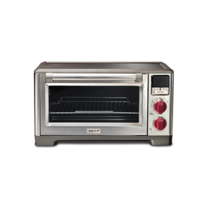 Wolf Gourmet Countertop Convection Oven with Red Knobs