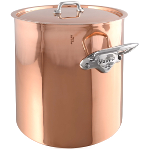 Mauviel M'150s Copper and Tin Lined Stock Pot with Lid