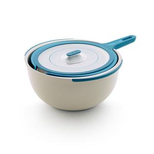 Lékué Blue 3 Piece Mixing Bowl Set