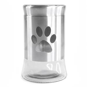 International Housewares Corp Glass and Stainless Steel 33 Ounce Pet Treat Jar