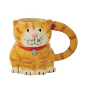 Boston Warehouse Earthenware 14 Ounce Cat Mug