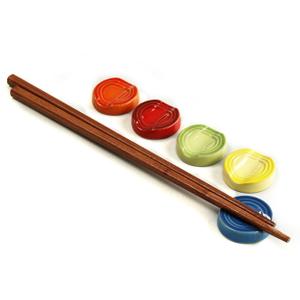 Le Creuset Multi Color Stoneware Chopstick Rest, Set of 5
