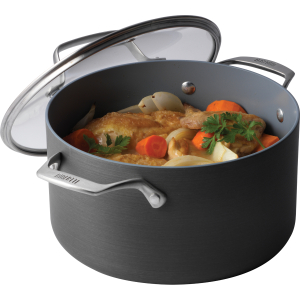 Bialetti Ceramic Pro Gray Ceramic 6 Quart Covered Dutch Oven