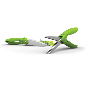 Prepara Stainless Steel Herb Shears with Spring Green Handle