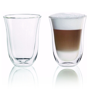 Delonghi Double Walled Thermo Latte Macchiato Glass, Set of 6