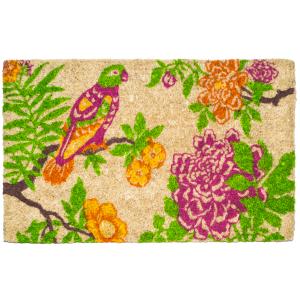 Entryways Handwoven Coconut Fiber Summer Peony 22 x 30 Inch Doormat