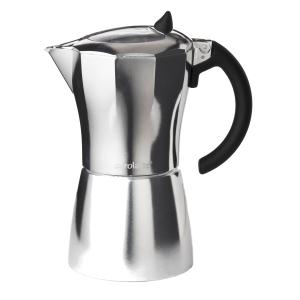 Aerolatte MokaVista Aluminum 6 Cup Stovetop Espresso Maker