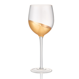 Artland Luxe Gold Glass 17 Ounce Goblet