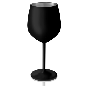 Artland Colton Matte Black Stainless Steel 18 Ounce Goblet