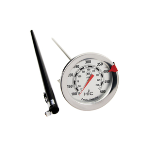 HIC Harold Import Co Stainless Steel 13.5 Inch Deep Fry Analog Thermometer