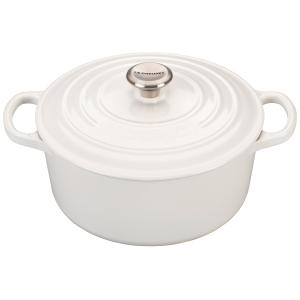 Le Creuset Signature White Enameled Cast Iron 3.5 Quart Round French Oven