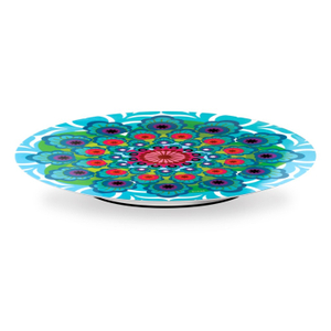 French Bull Raj Melamine 15 Inch Lazy Susan with Non-Slip Base