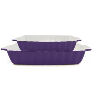 Rectangular Bakeware 2 Piece Set Purple Large & Small