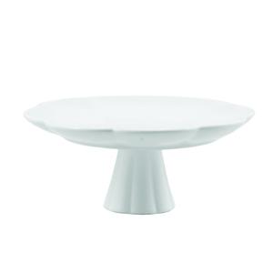 La Porcellana Bianca Villadeifiori White Porcelain 7.75 Inch Plate with Stand