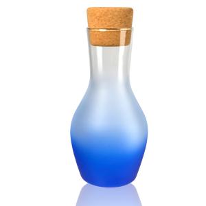 Artland Frost Shadow Blue Glass 1 Quart Carafe