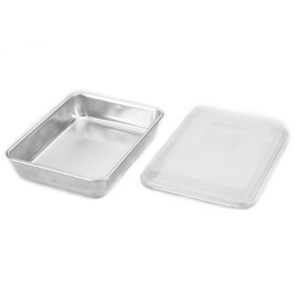 Nordic Ware Naturals Aluminum Cake Pan and Quarter Sheet with Lid 3 Piece Set