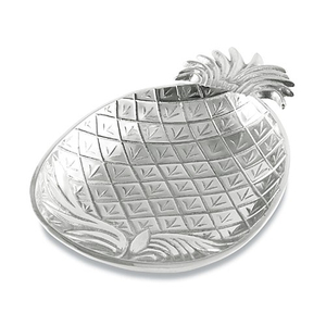 Aluminum Tropical Pineapple Serving Bowl