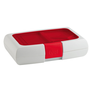 Trudeau Fuel Candy Red Bento Lunch Box