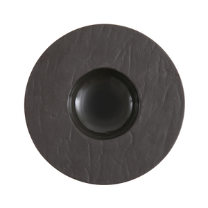 Fortessa Slayte Black 11 Inch Wide Rim Bowl