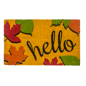 Entryways Hello Fall Non-Slip Coir Doormat