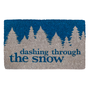 Entryways Dashing Through the Snow Handwoven Coconut Fiber Doormat