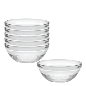 Duralex Lys Clear 17 Ounce Stackable Bowl, Set of 6