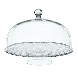 Nachtmann Dancing Stars Bossa Nova Fine Crystal Cake Dome with Footed Cake Plate