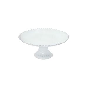 Costa Nova Pearl White Stoneware 11 Inch Cake Stand