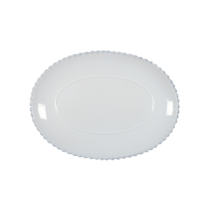 Costa Nova Pearl White 13.5 Inch Oval Platter