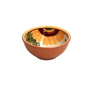 Casafina Alentejo Terracotta Giftware Sunflower Dip Bowl
