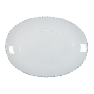 Costa Nova Pearl White 16 Inch Oval Platter