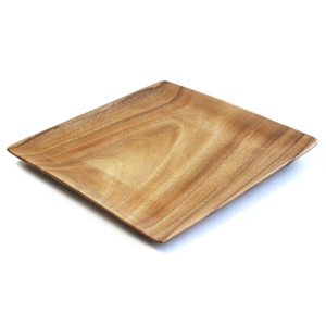 Pacific Merchants Acaciaware 12 x 12 Inch Square Serving Plate