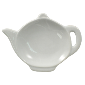 HIC Harold Import Co White Porcelain Teapot Tea Bag Caddy