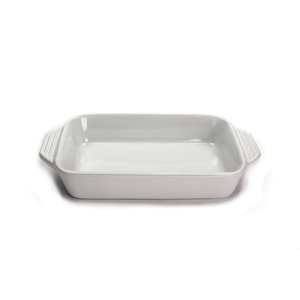 Le Creuset White Stoneware Rectangular Baking Dish, 1.8 Quart